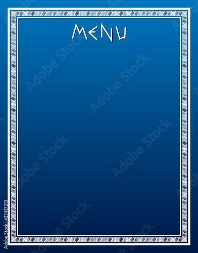 Greek style menu - 27417213