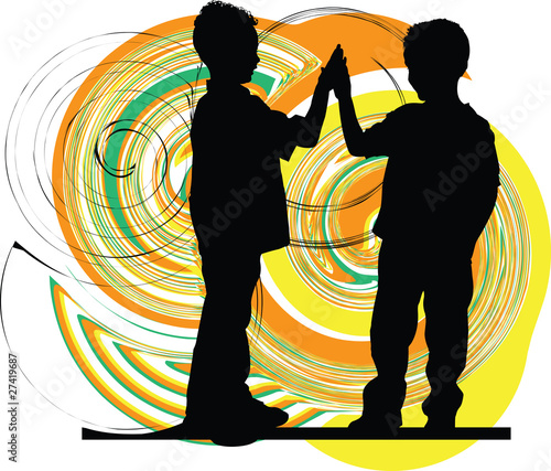 Friends. Editable Vector Illustration