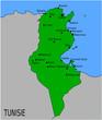 Carte des Villes Principales de Tunisie