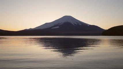 富士山夕景山中湖