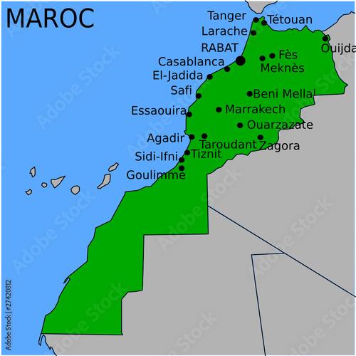 Carte des Villes Principales du Maroc
