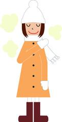 冬 暖かい 女の子
