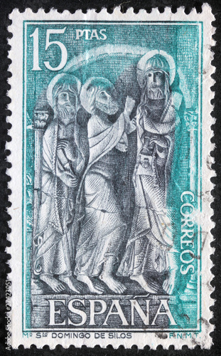 SPAIN - CIRCA 1979:stamp shows Saint Dominic of Silos