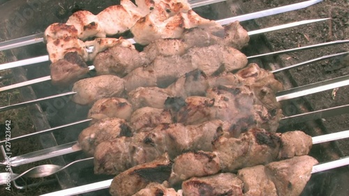 HD Shashlik on metal skewers