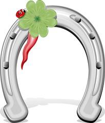 Ferro di Cavallo Porta Fortuna-Horseshoe-Vector