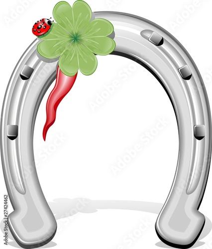Ferro di cavallo porta fortuna horseshoe vector immagini - Foto porta fortuna ...