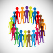 vector colorful multiple circle of people