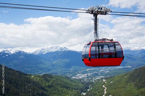 Aerial tram at Whistler Peak, Canada - 27424823