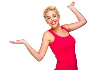 Fun and Free - Woman with Hands Raised