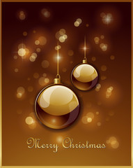 Gold christmas decoration background