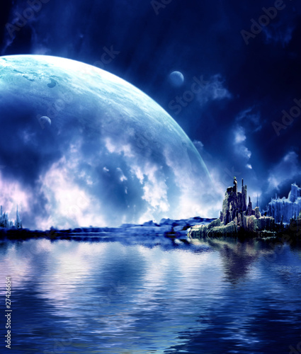 Landscape in fantasy planet - 27426654