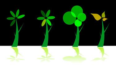 illustration of green tree