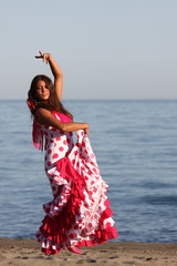 Dancing andalusian woman