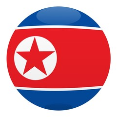boule corée du nord north korea ball drapeau flag