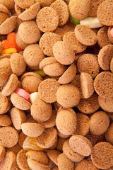 background of typical dutch sweets: pepernoten (ginger nuts)