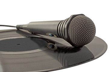 Microphone over vinyl