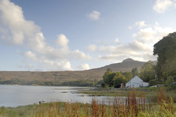 White house at Kinloch on Rum