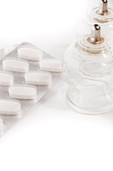 cupping rubber and tablets