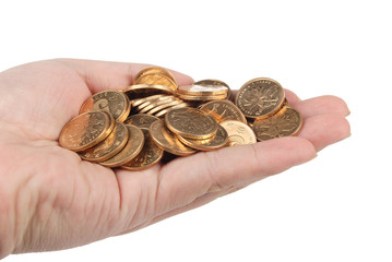 Coins on hand