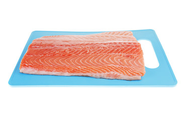 piece of big salmon fillet