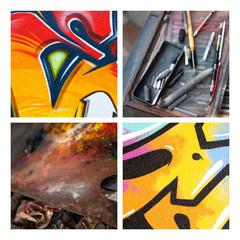 Art peinture Montmartre graffiti peintre artistique culture