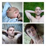 Sommeil repos rêve hommes masculin caucasien détente poster