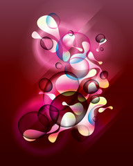 Abstract vinous background with shining forms end drops