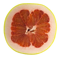 Half of ripe pomelo