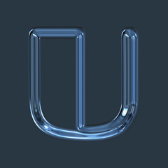 illustrated glass letter with space for your text