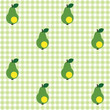 Checked pattern with pear