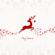 Jumping Reindeer, Christmas Ball & Snowflakes