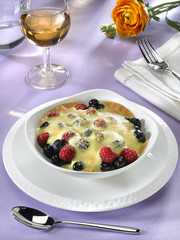 gratin de fruits des bois - frutti di bosco - soft fruits