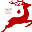 Flying Reindeer & Christmas Ball Cropped