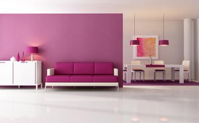 modern purple living room