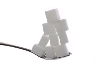 Zuckerwürfel gestapelt
