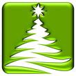 Icône sapin de Noël abstrait vert électrique
