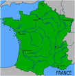 Carte des rivières principales de France