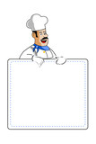 chef holding cooking card