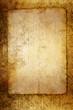 Altes Papier auf goldenen Untergrund