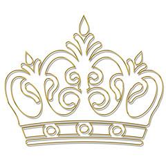 couronne en or ciselé