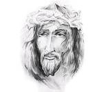 Sketch of tattoo art, Jesus Christ - 27461453