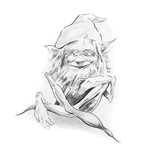 Sketch of tattoo art, gnome - 27461664