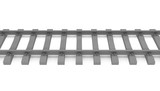 3d rails horizontal untextured gray