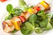 Geflügelspiess mit Salat
