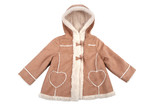 Fototapety Baby leather coat with fur