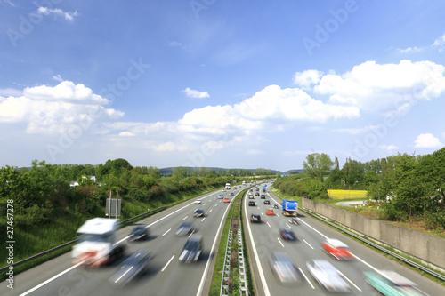 Leinwanddruck Bild Autobahn