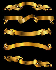 Shiny Gold Banners
