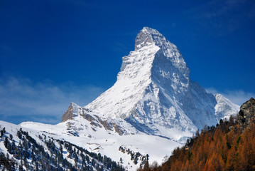 Matterhorn mountain of zermatt switzerland