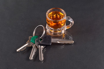 Shot of Whiskey with Car Keys