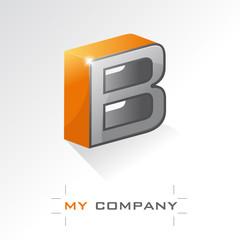 logo entreprise, lettre B en 3D